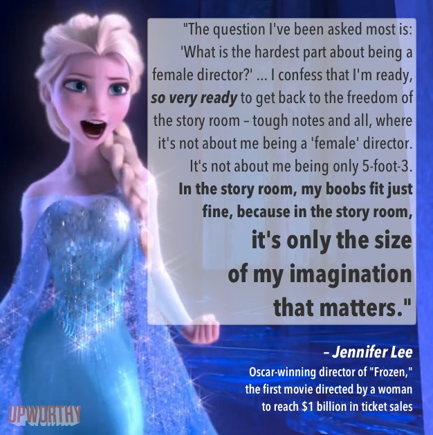 Jennifer Lee on being a female director- GASP!